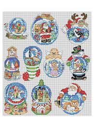 cross stitch downloads snow dome ornaments cross stitch pattern