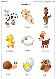 esl pages animals flashcards pinterest animal english and