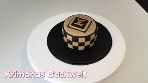 louis vuitton fondant torte cake youtube