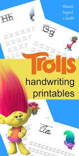 free cursive writing paper best 25 cursive handwriting ideas on pinterest cursive cursive free trolls handwriting printable set print and cursive edition