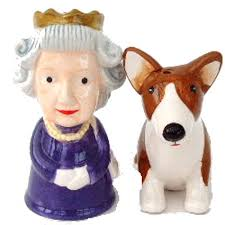 novelty salt and pepper shakers queen and corgi novelty salt and pepper shakers novelty