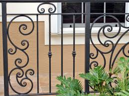 patio iron deck railing home depot banisters porch railing ideas