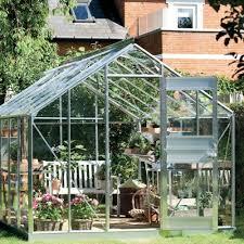 serre horticole en verre serre de jardin compact plus verre horticole 8 3 m embase