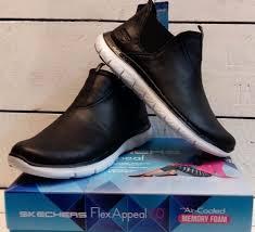 skechers womens boots uk skechers flex appeal 2 0 done deal ankle boots womens memory foam