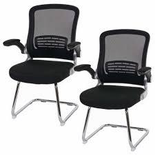 fauteuil bureau sans roulettes lot de 2 fauteuils chaises pour visiteur ergonomique bureau sans