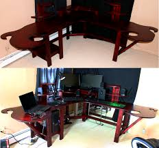 Gaming Desks by Computer Gaming Desk Custom Desk With Pc Built In Gaming
