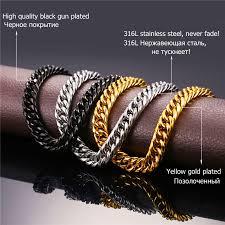 gold chain necklace wholesale images Cuban chains for men hip hop jewelry wholesale gold color thick jpg