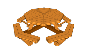 octagon picnic tables plans home table decoration