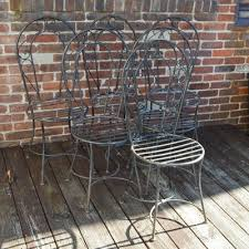 Iron Bistro Chairs Patio Furniture Ebth