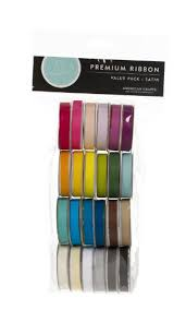 spools of ribbon american crafts solid satin ribbon value pack 24 1