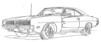 Dodge Challenger Drawing - 1969 dodge charger coloring page free download