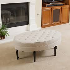 coffee table coffeele with nested ottomans oval leather ottoman