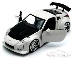 Nissan 350z Black - nissan 350z white jada toys bigtime kustoms 92354 1 24 scale