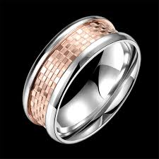 stainless steel rings for men fashion rings men trendy geometry gold plated stainless steel