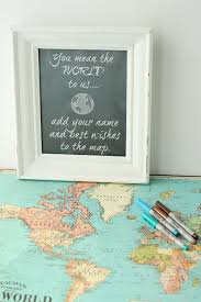 guest book sign in your wedding guests sign in with a travel map