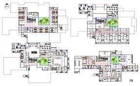 floor plan of hospital layout plan dwg file