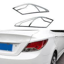 Car Decoration Accessories 2pcs Set New Car Decoration Accessories Abs Chrome Trim Rear Tail