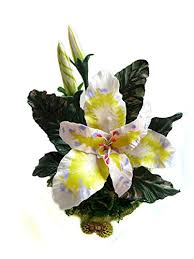 flowers cold porcelain miniature inca lily home decor hand made