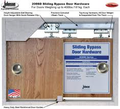How Wide Is A Standard Patio Door by Johnson Hardware 200sd Sliding Bypass Door Hardware