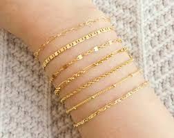 ladies gold chain bracelet images Chain bracelet etsy jpg