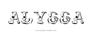 alyssa name tattoo designs tattoo designs and font styles