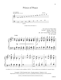 prince of peace arr bill ingram j w pepper sheet music