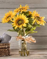 silk sunflowers essence of summer with silk sunflower arrangements at