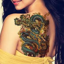 tattoo dragon water aliexpress com buy 3pcs temporary tattoos stickers on the body