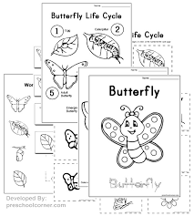 free preschool butterfly printables and crafts butterfly drawing