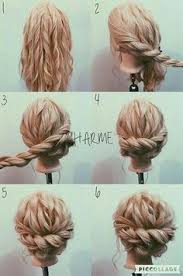 curly hair updos step by step easy for kids hair hair styles i wish i could do pinterest