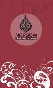 nopgow thai restaurant dine in menu design inprintla net