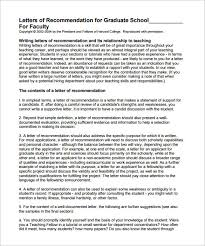 awesome collection of graduate recommendation letter sample