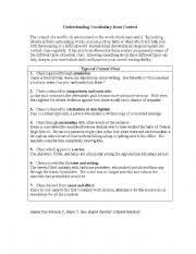 english teaching worksheets context clues
