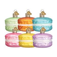 world ornaments food macaron glass ornament 32242