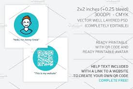 square business card qr code business card templates creative