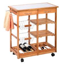 amazon com rolling wood kitchen trolley cart countertop dining