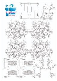 rose pattern kirigami 2 pop up i kirigami pattern pinterest