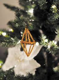 diy geo ornaments from pipe cleaners maegan