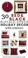 Buffalo Home Decor 30 Red And Black Buffalo Plaid Or Buffalo Check Holiday Decor