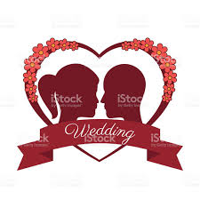 happy wedding desing vector illustration stock vector art