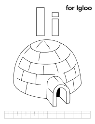 igloo coloring page inuit sitting a bonfire in front of igloo