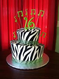 black white and pink zebra striped birthday cake my cakes