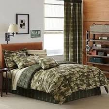 Army Bed Set Green Camouflage Camo Army Boys Comforter Set
