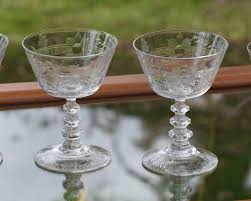 martini bar decor vintage etched cocktail martini glasses set of 4 cocktail party