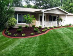 Landscaping Around House by Commercial Cuts Lawn U0026 Landscape Examples