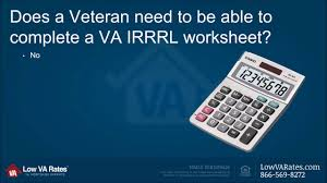 va irrrl worksheet va form 26 8923 youtube