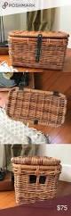 wicker basket with leather handles best 25 wicker storage baskets ideas on pinterest diy dressing