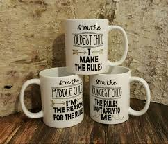 three sibling funny mugs unique siblings mug personalized