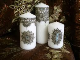 bougie hennã mariage bougie decorée au henné