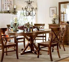 benchwright extending pedestal dining table rustic mahogany